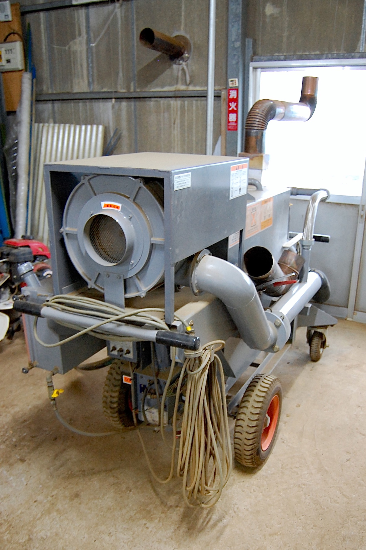 土を洗浄する機械