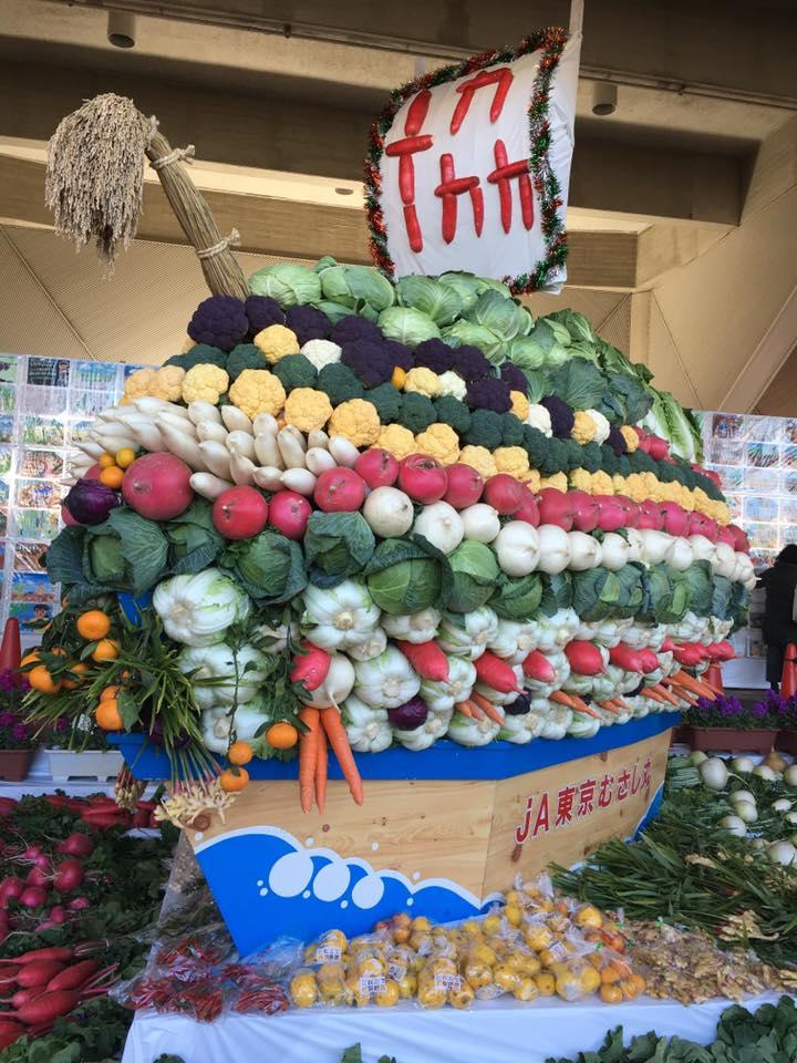 JA東京むさし三鷹地区青壮年部による宝船(昨年の農業祭のもの)